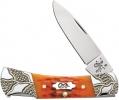 Case Worked Bolster Autumn Bone - Standard Jig Lockback (61225L SS)  - 53228
