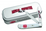 Case Firefighter - Embellished Smooth White Synthetic Mini Trapper (4207 SS) in Gift Tin - 5468
