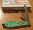 Case Painted Desert - Smooth Emerald Green Bone Tear Drop (TB62028 SS) - 63117