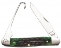 Case Ducks Unlimited - Deep Canyon Jig Hunter Green Bone Bird Hunter (6247H SS) - 7303
