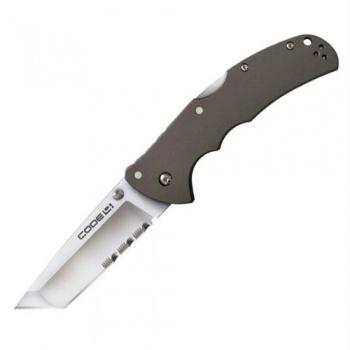 Cold Steel Code 4 Tanto Pt Half Serr knives 58TPTH