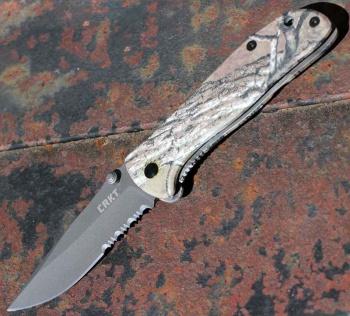 Columbia River Drifter Real Tree/combo Edge knives 6460RT