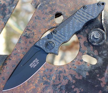 Gatco Mini Helix Carb Fib Blk Blade knives 42111