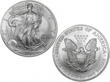 2004 1 oz Silver American Eagle Coin - 20 Pack