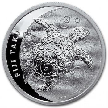 2013 New Zealand Silver Fiji Taku 1 oz Coin .999 Fine