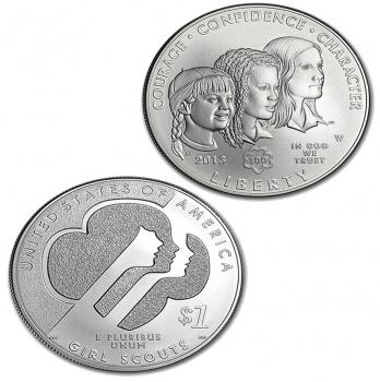 2013 Girl Scouts of USA Centennial Silver 1 oz Coin