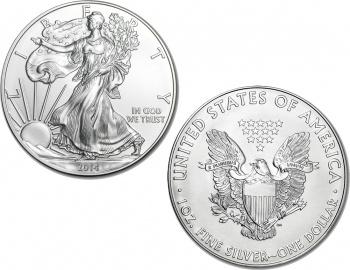 2014 1 oz Silver American Eagle Coin