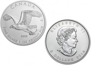 2014 Silver Bald Eagle Birds of Prey 1 oz Coin