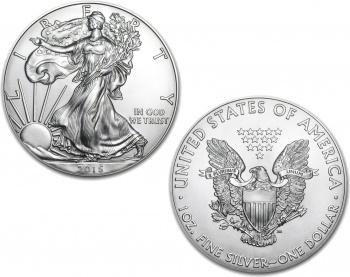 2015 1 oz Silver American Eagle Coin in Air-Tite Capsule
