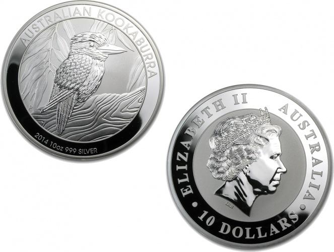 2014 Australian Silver Kookaburra Coin 10 Oz