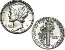 1916-1945 90% Silver Brilliant Uncirculated Mercury Dime