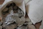 Survival Money - Lot of four(4) 1832-1964 90% Circulated Silver Washington Quarters