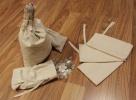 Canvas Blank Money Bag 6.5x9.5 100% Natural Cotton