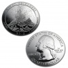 2012 Silver Hawaii Volcanoes Coin 5 oz .999
