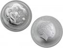 2012 Silver Australian Lunar Year of the Dragon Coin 1 oz