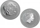 2012 Silver Australian Lunar Year of the Dragon Coin 1/2 oz
