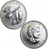 2012 Canadian Silver Moose 1 oz Coin .9999 Fine