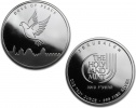 2013 Holy Land Mint Dove Of Peace Silver 1 oz Coin .999 Fine