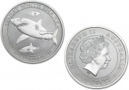 2014 Silver Australian Great White Shark 1/2 oz Coin