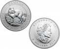 2014 Canadian Silver Arctic Fox 1.5 oz Coin .9999 Fine