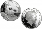 2014 Great Britain Year of the Horse Silver 1 oz Coin