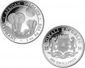 2014 Silver Somalian African Elephant 1 oz Coin