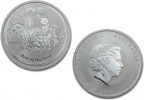2015 Silver Australian Goat 1/2 oz Coin