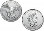 2012 Canadian Silver Peregrine Falcon Coin 1 oz .999