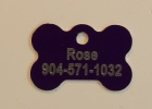 Purple Dog Bone Pet I.D. Collar Tag
