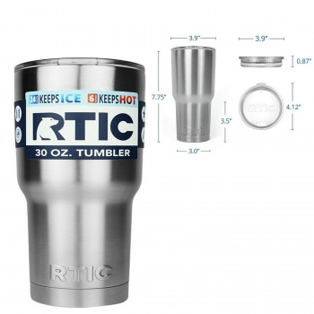 RTIC 30 oz. Tumber Stainless Steel with Laser Engraving Option RTIC_TUMLER_30OZ