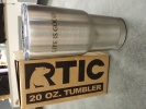 RTIC 20 oz. Tumber Stainless Steel with Name Laser Engraving