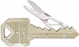 SOG KEY SCISSORS BRASS - KEY202-CP
