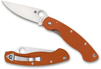 Spyderco Military-orng/cpm Rex 45/sprnt knives C36GPBORE