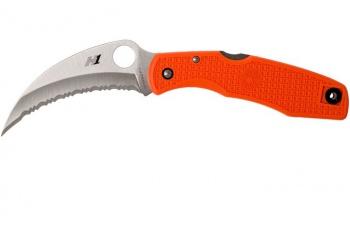 Spyderco Spyderhawk Salt-orng/h1/sprint knives C77SOR
