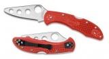Spyderco DELICA 4 LIGHTWEIGHT RED - C11TR