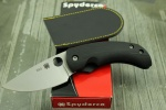 Spyderco FRICTION FOLD BLK G-10 PLNEDGE - C167GP