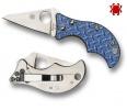 Spyderco SPIN BLUE NISHIJIN PLAINEDGE - C86GFBLP