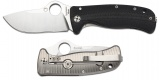 Spyderco C181GTIP Lil Lion Spy Plain Edge Titanium Handle Knife