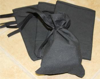 Black Canvas Blank Money Bag 6.5x9.5 100% Cotton