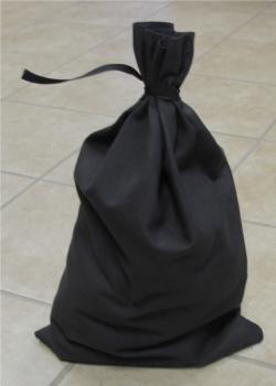 Black Canvas Blank Money Bag 12x19 100% Cotton