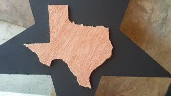 Texas Wooden Plank Wall Pediment Decor 8x8 - Natural / Unfinished TEXASPLANK8INCHNATURAL