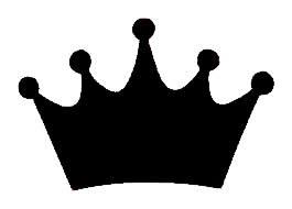 Princess Crown Black Vinyl Decal 4x4