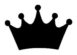 Princess Crown Black Vinyl Decal 6x6