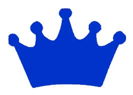 Princess Crown Blue Vinyl Decal 6x6