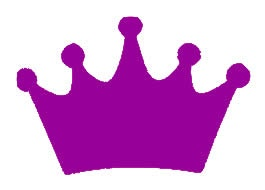 Princess Crown Purple Vinyl Decal 6x6