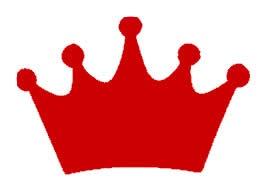 Princess Crown Red Vinyl Decal 12x12