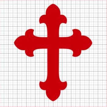 Cross Red Vinyl Decal 6x6