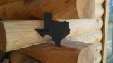 Texas Wooden Plank Wall Pediment Decor 8x8 - Black