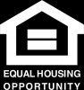 Equal Opportunity Fair Housing Vinyl Decal 6x6 White
