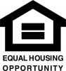 Equal Opportunity Fair Housing Vinyl Decal 4x4 Black